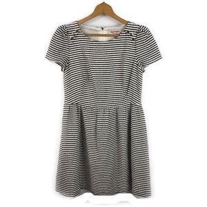 Juicy Couture Navy Striped Sheath Tweed Dress 10